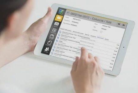 gestionale per studio legale su tablet